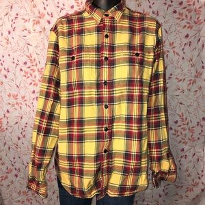 Rugby Flannels Large Button Up Long Sleeve Shirt